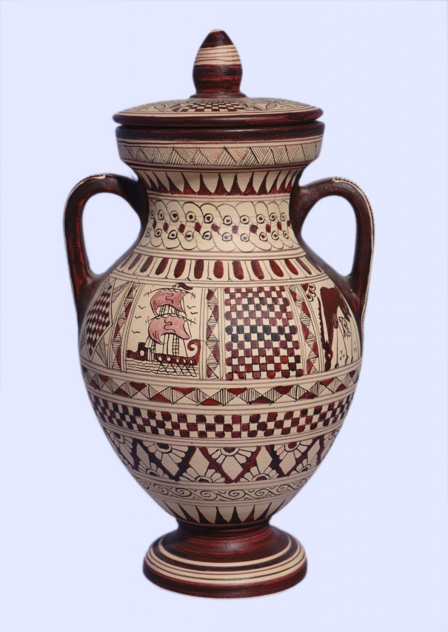Small size Attic amphora with geometric decoration