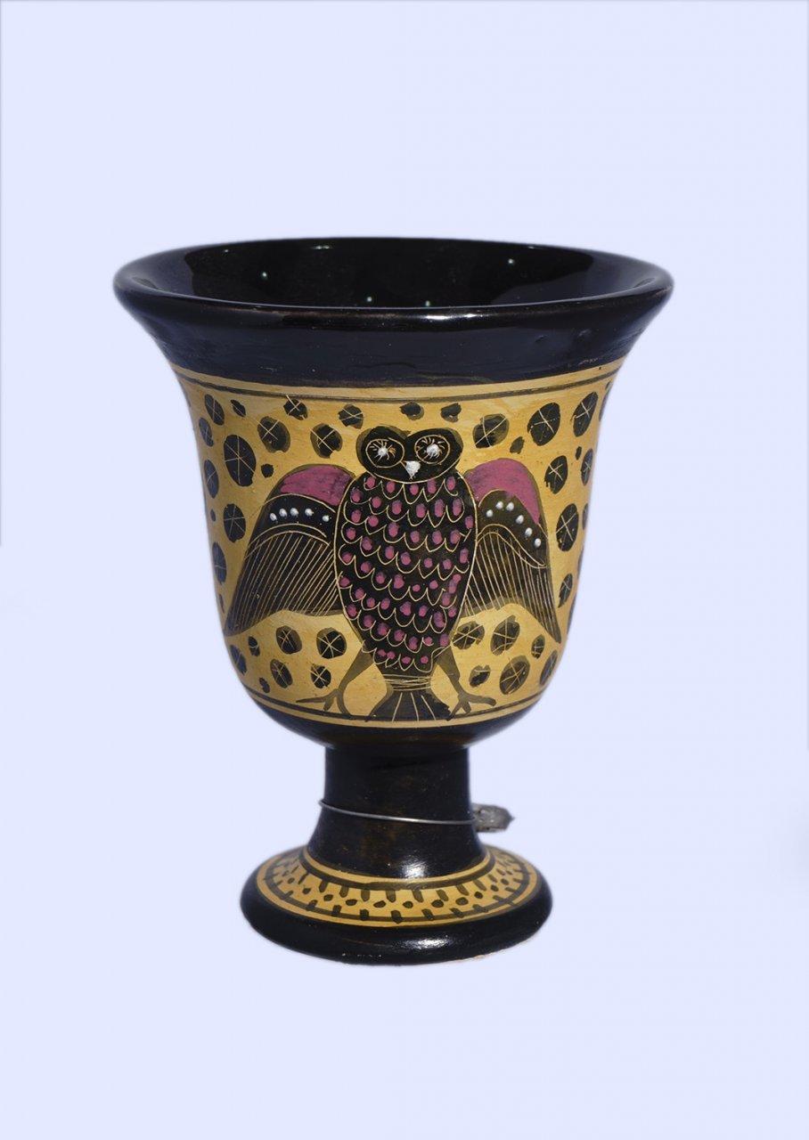 Pythagoras Ceramic Cup with Owl