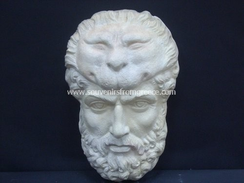 Hercules greek plaster mask Greek statues Greek masks