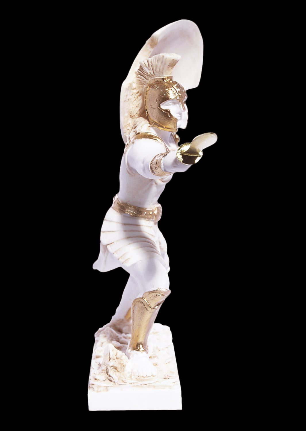 Achilles with his spear greek alabaster statue
