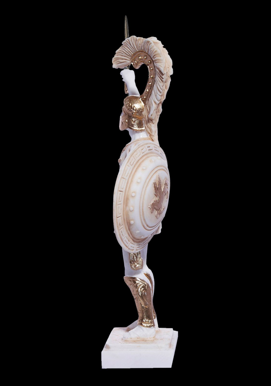 Achilles with his sword and shield, greek alabaster statue