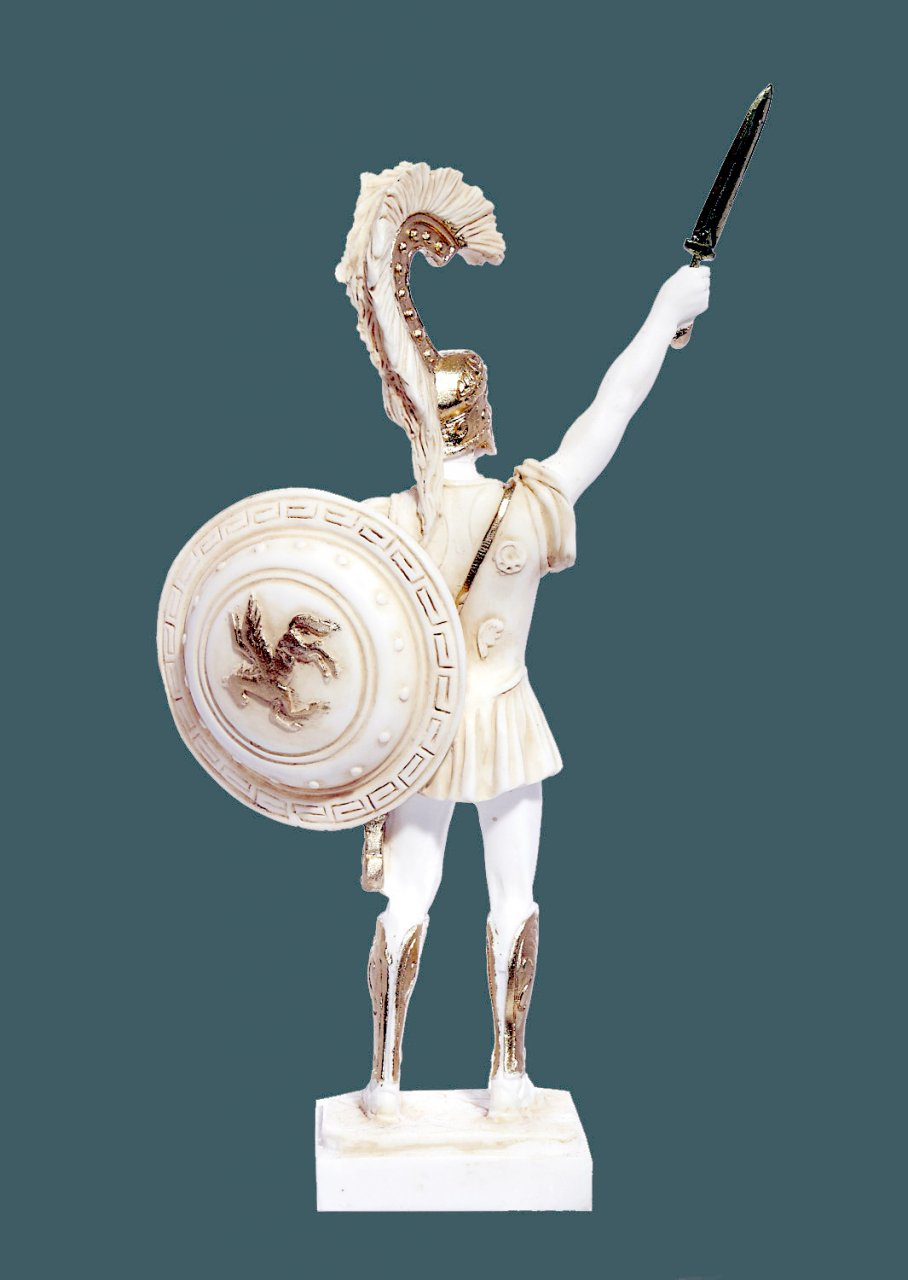 Achilles with sword and scabbard greek alabaster statue