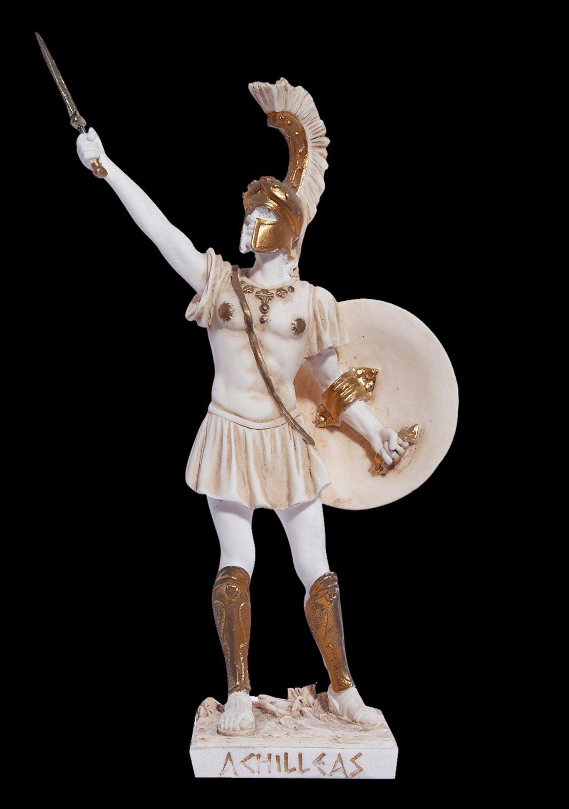 Achilles with sword greek alabaster statue
