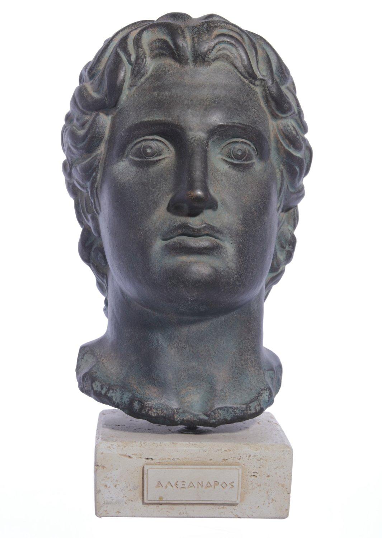 Alexander the Great medium plaster bust