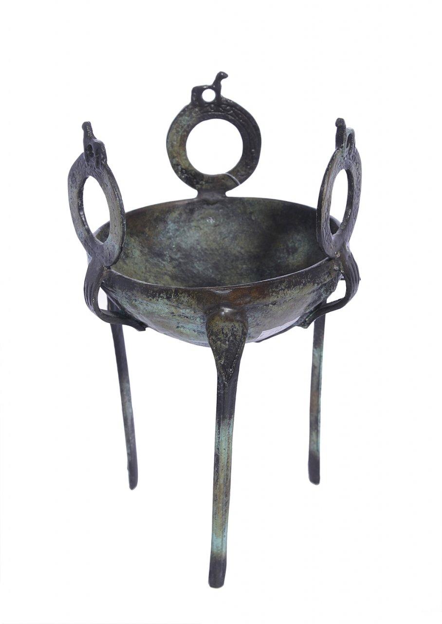 Greek Small Bronze Sacrificial Tripod