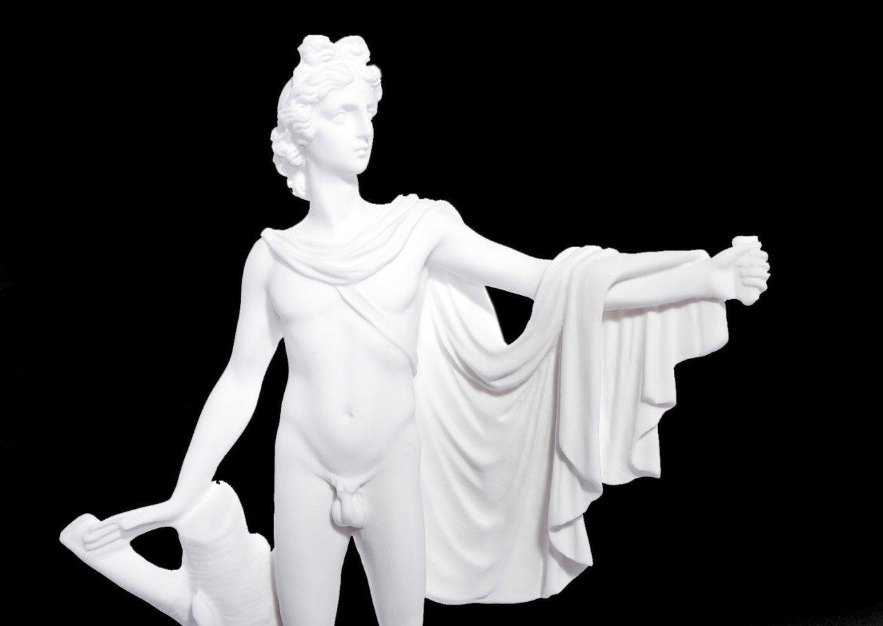 Apollo small greek alabaster statue