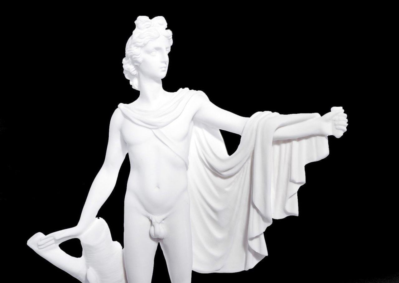 Apollo greek alabaster statue