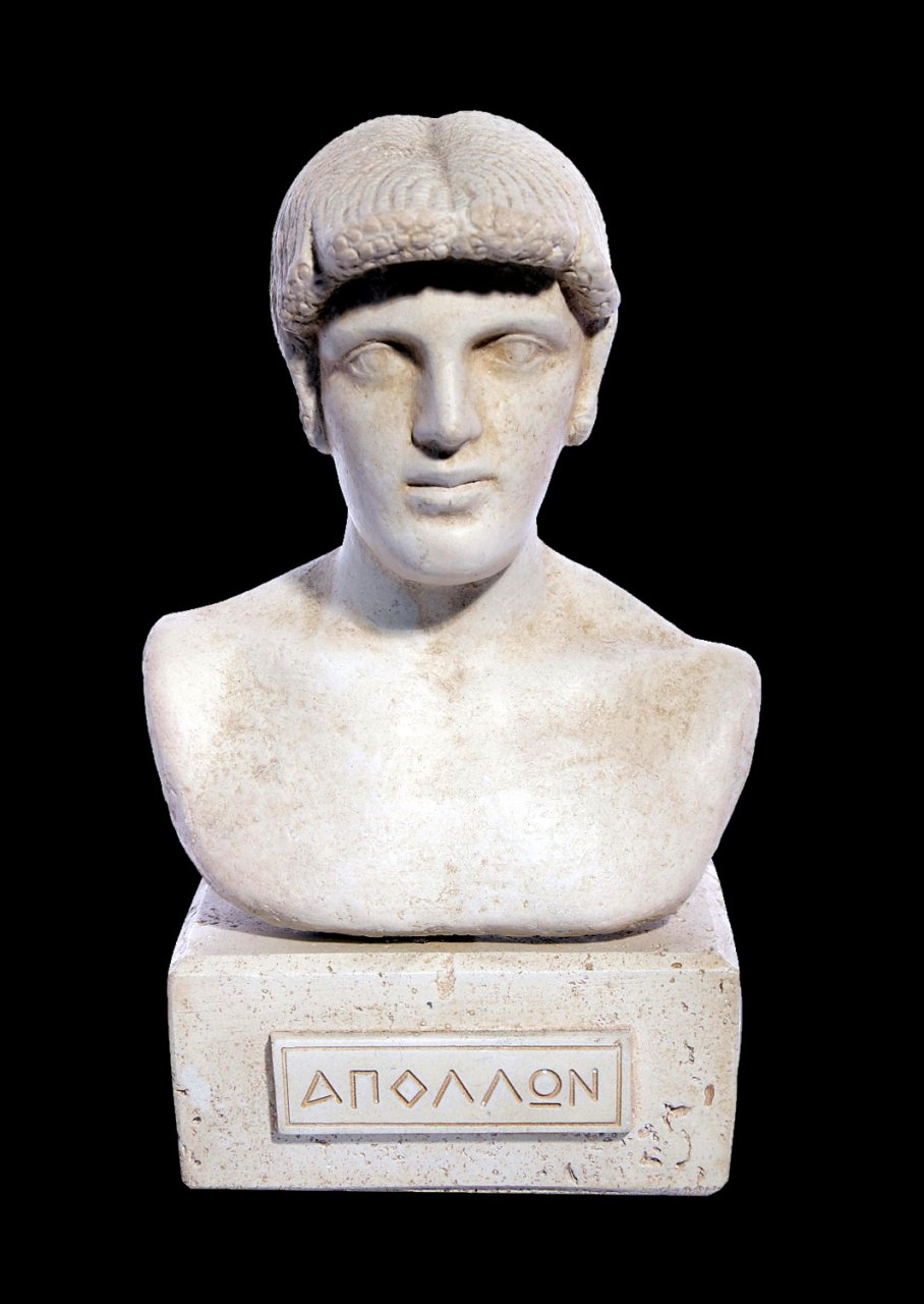 Apollo greek plaster bust statue