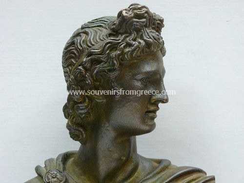 Apollo green plaster busts statue Greek statues Greek Busts Sculptures