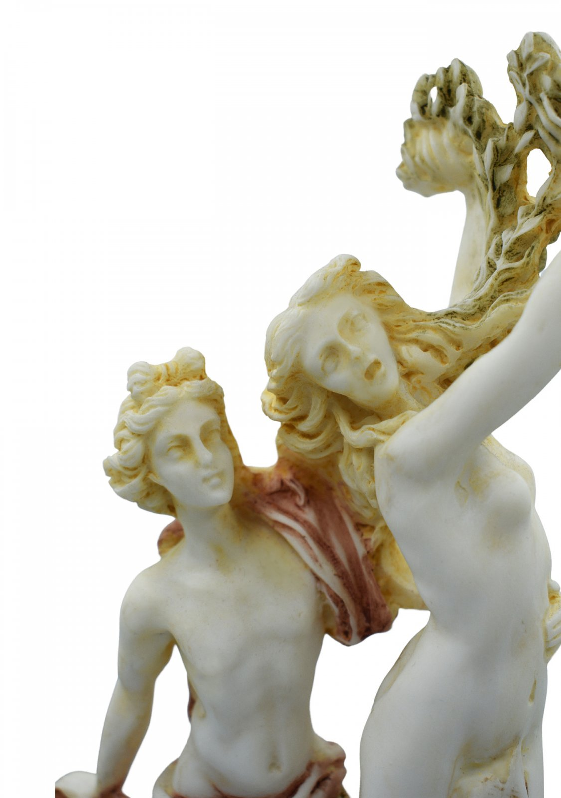 Apollo and Daphne of Lorenzo Bernini, greek alabaster statue with color