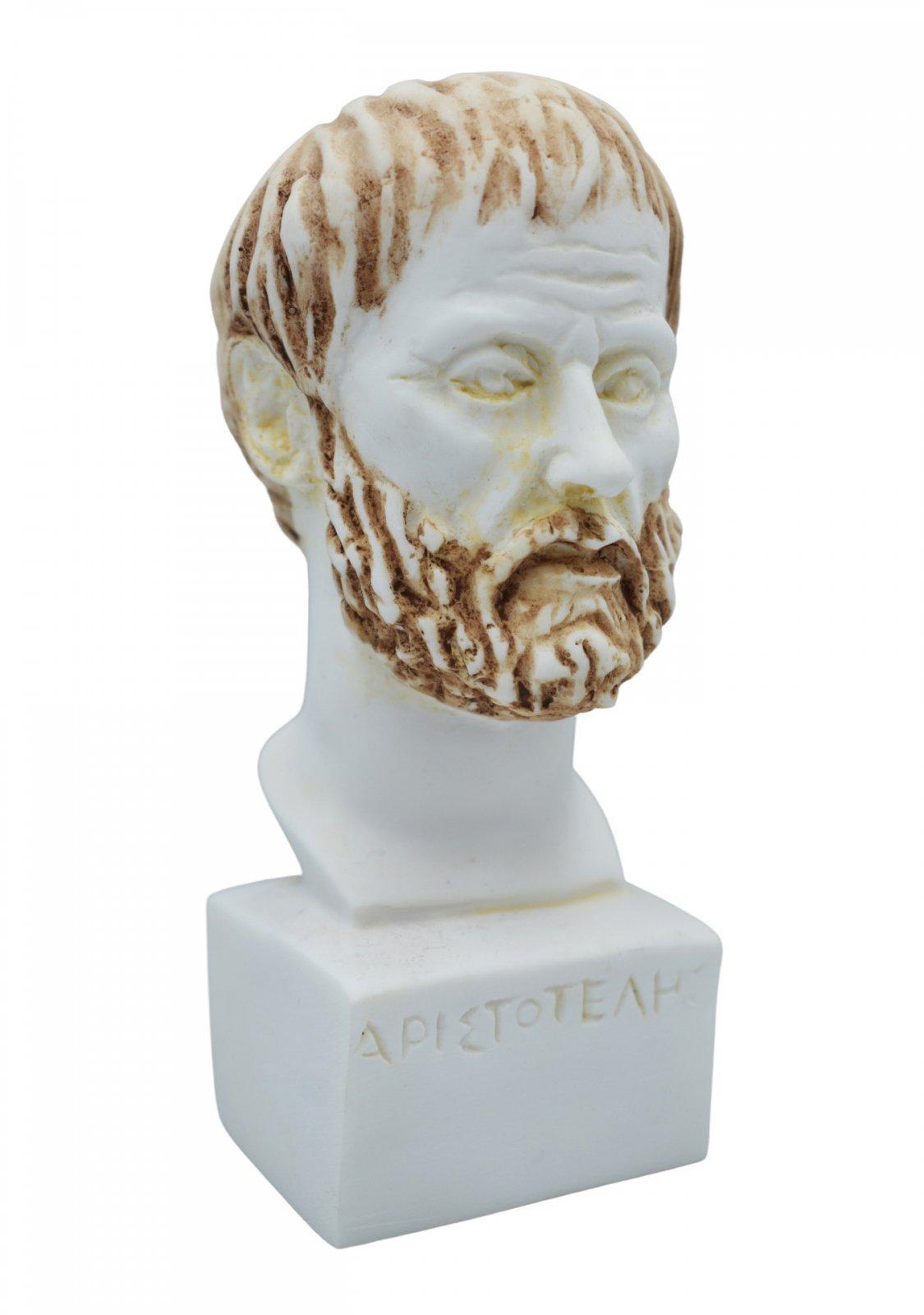 Aristotle greek alabaster bust statue