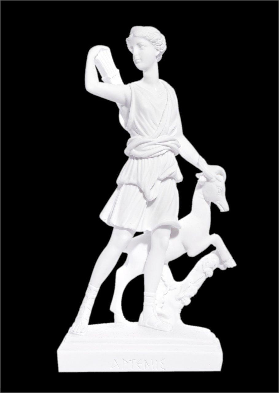 Artemis goddess of the hunt greek alabaster statue of Leoharis