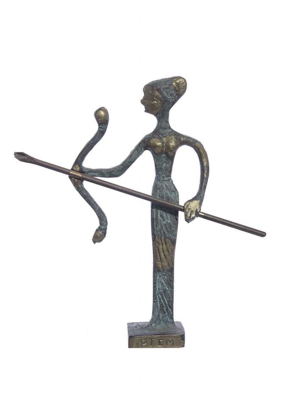 Bronze statue of Artemis goddess of the hunt
