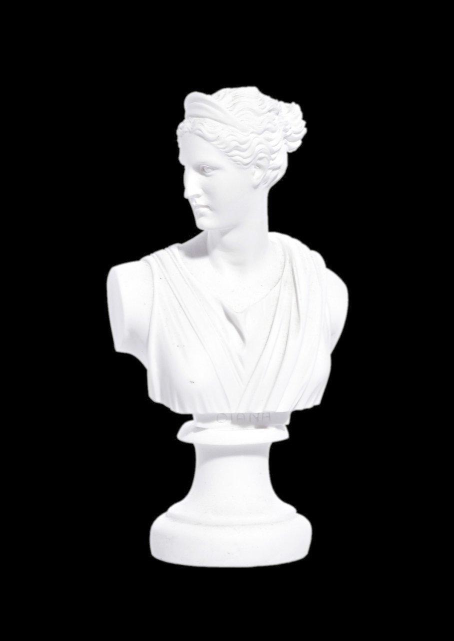 Artemis (Diana) greek alabaster bust statue