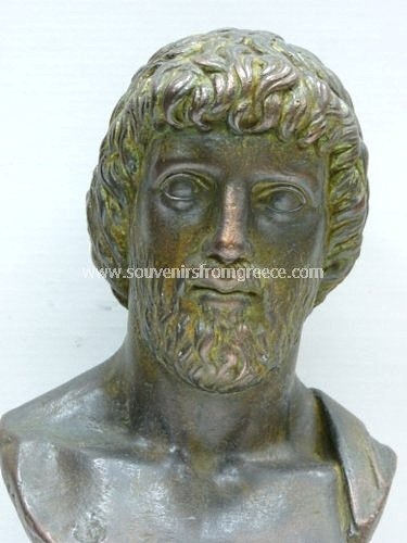 Asclepius (Askepios) greek plaster bust statue 