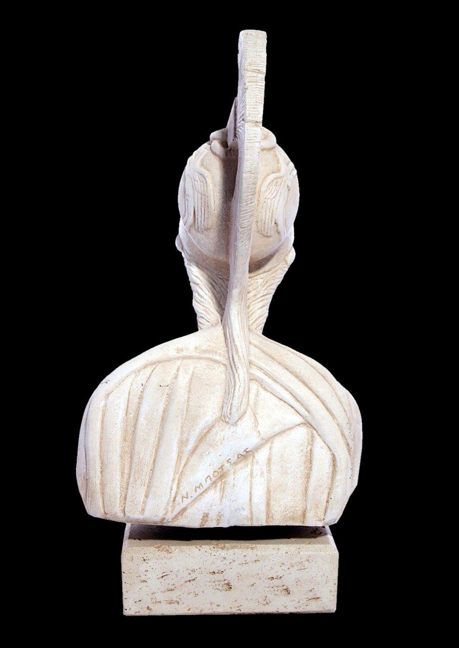 Athena greek plaster bust statue