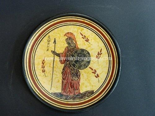 Goddess Athena small greek ceramic plate Greek pottery Free designed pottery & Goddess Athena small greek ceramic plate : Free designed pottery ...
