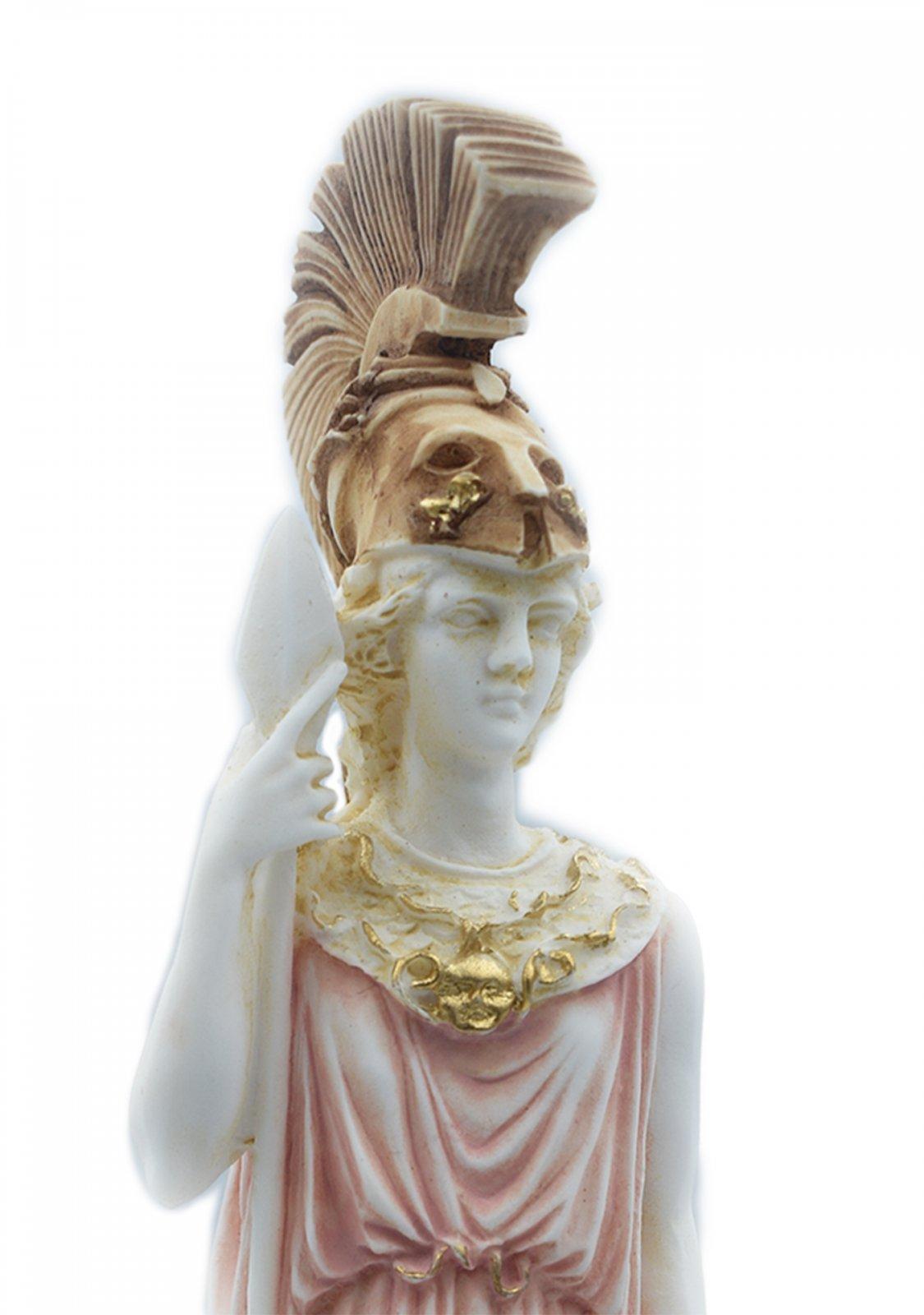 Goddess Athena Greek alabaster statue