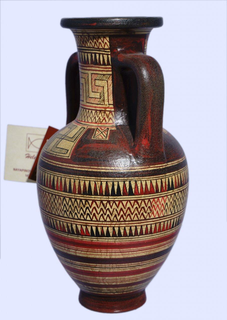 Attic amphora with geometric decoration