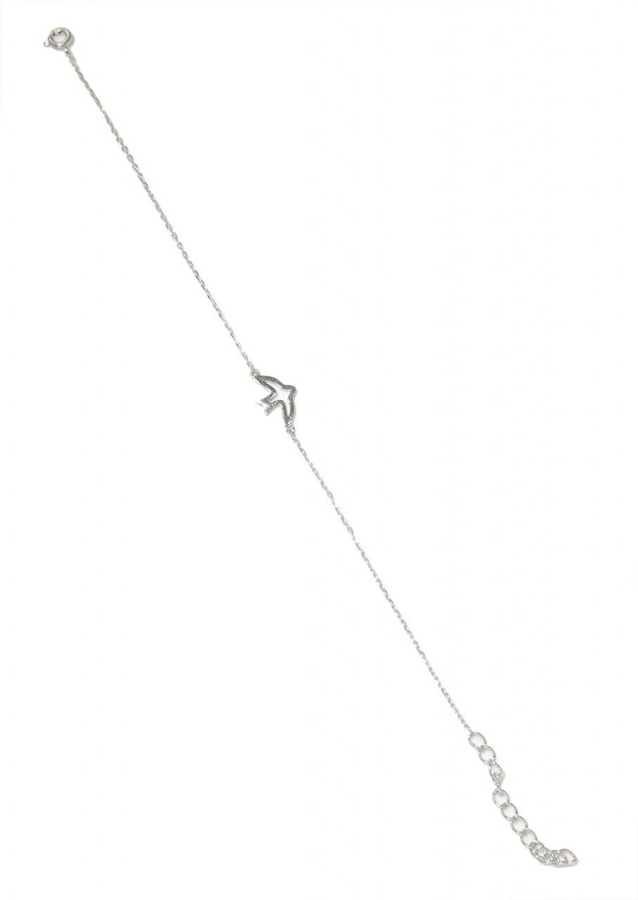 Dove silver bracelet