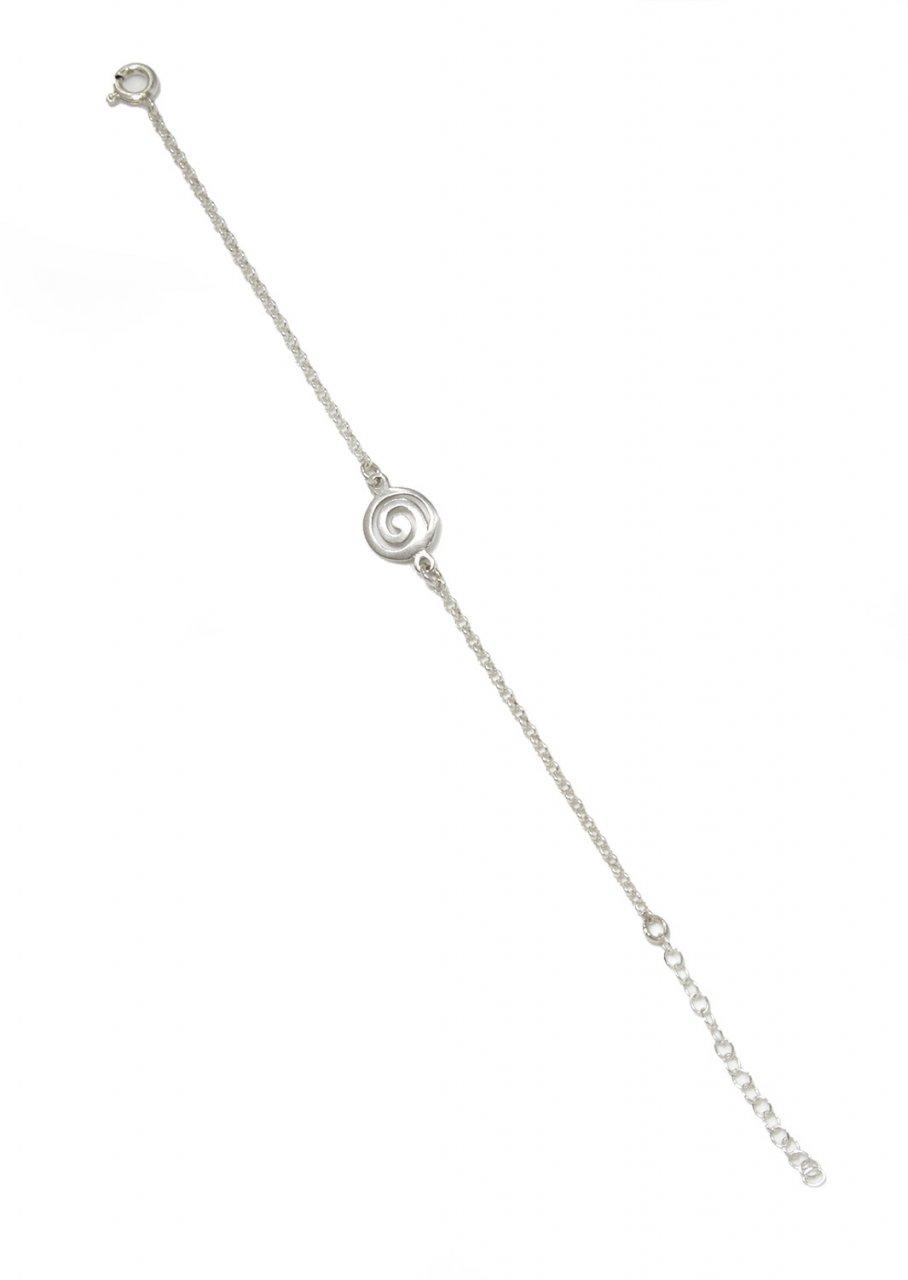 Greek silver bracelet with a spiral