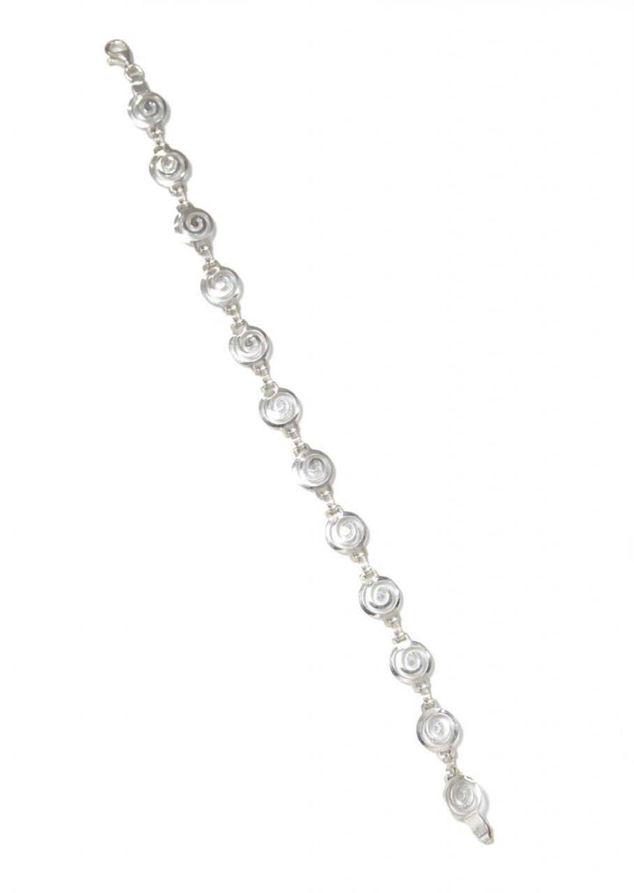 Spiral greek silver bracelet