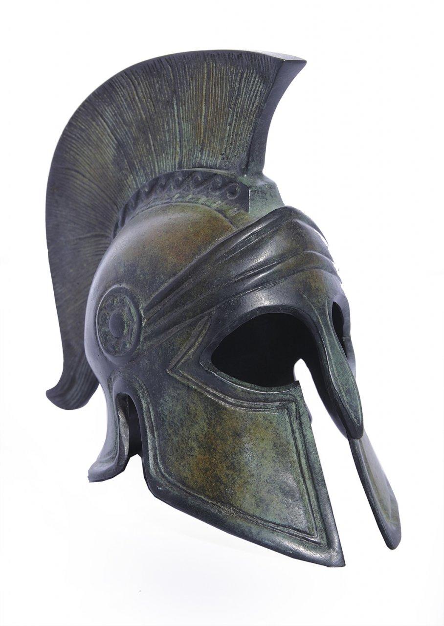 Greek bronze statue of Athenian helmet