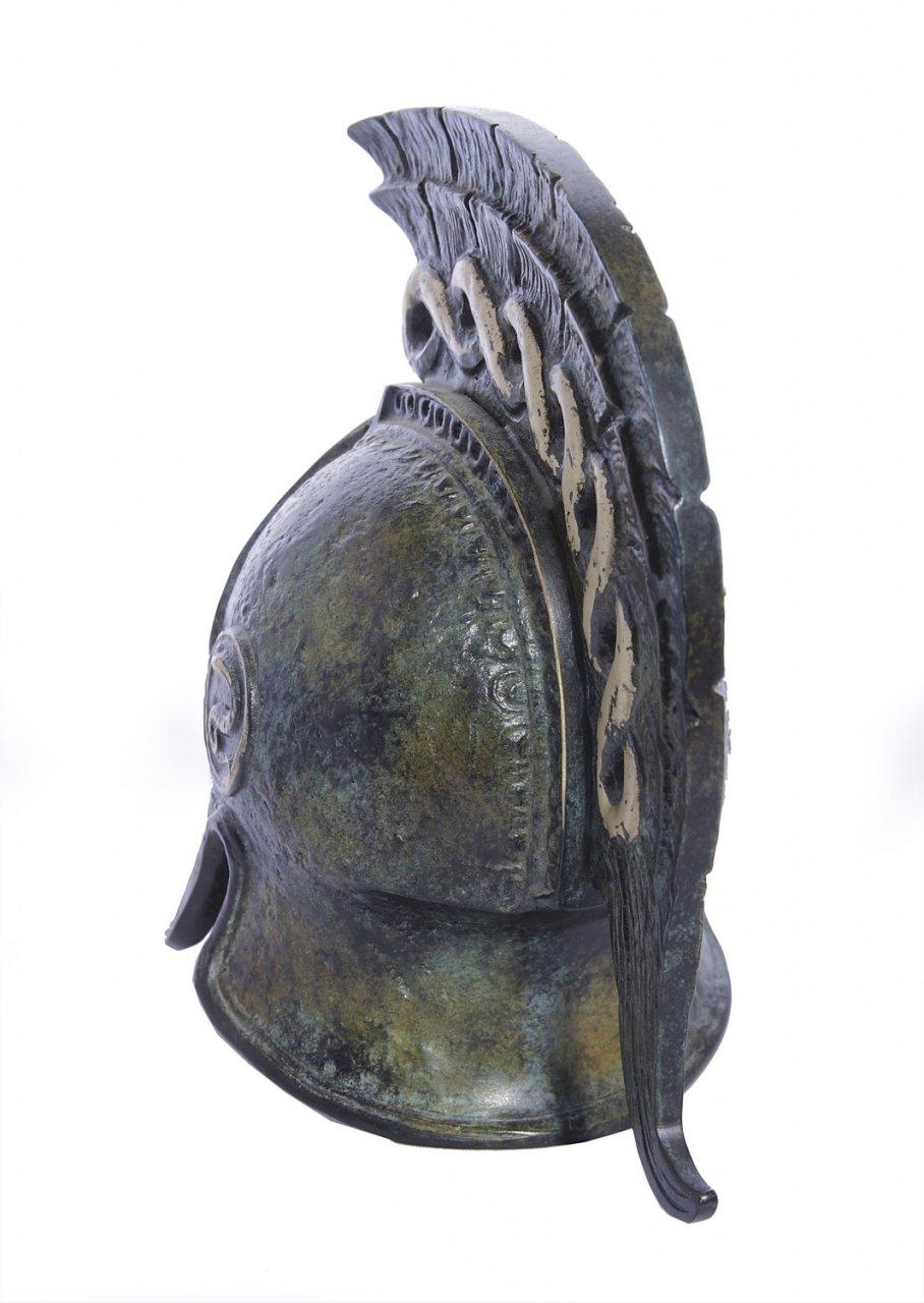 Greek bronze statue of a helmet from Argos