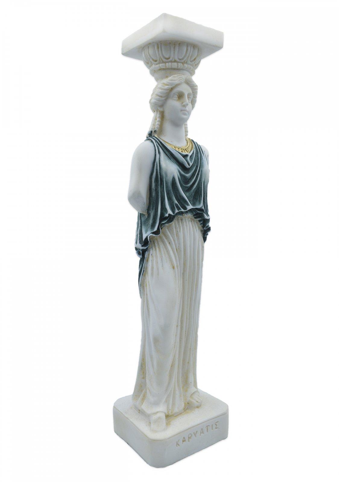 Caryatid greek alabaster statue
