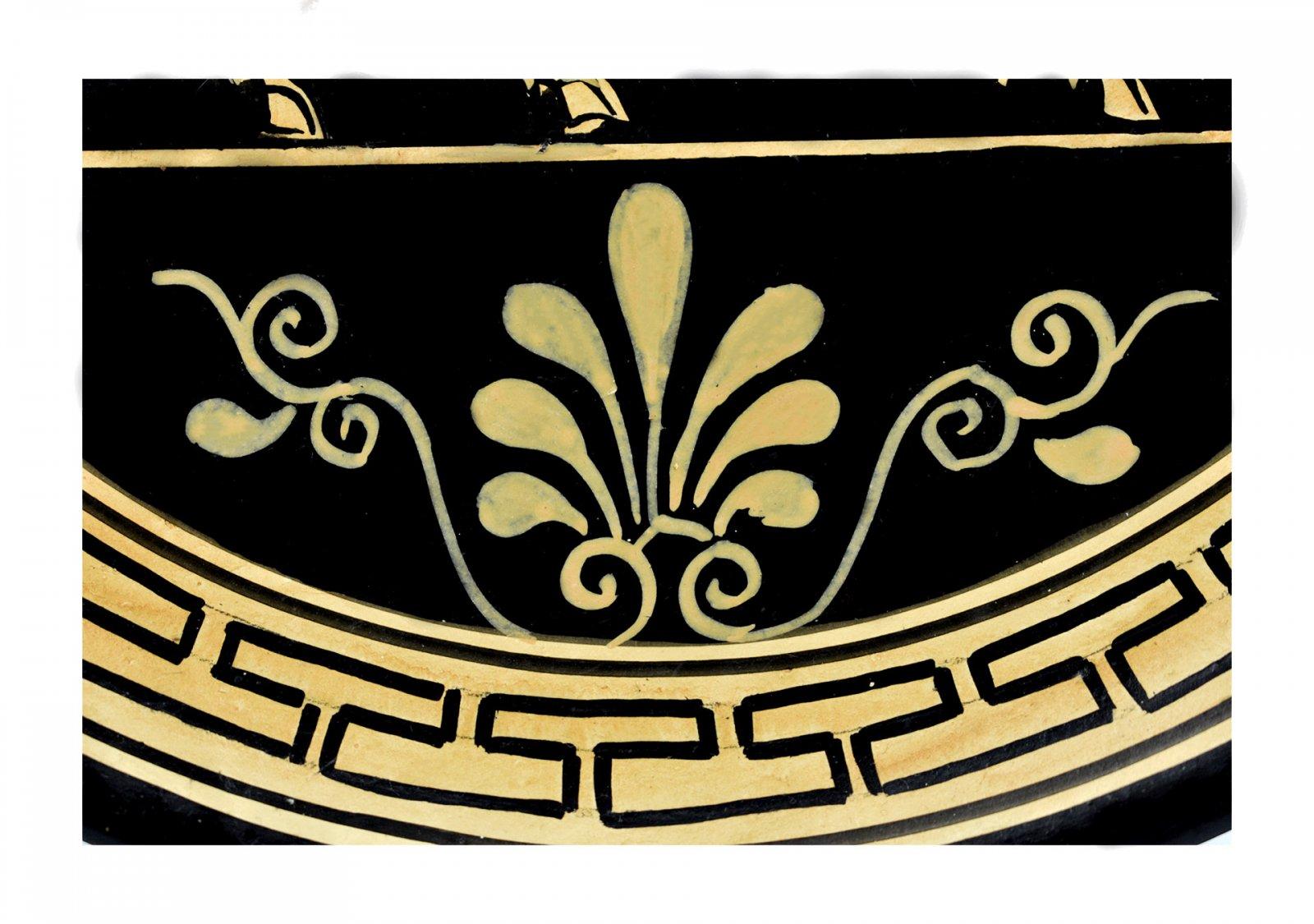 Greek ceramic plate depicting Centaurus (24cm)