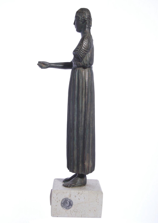 Heniokhos, The Charioteer of Delphi  green plaster statue