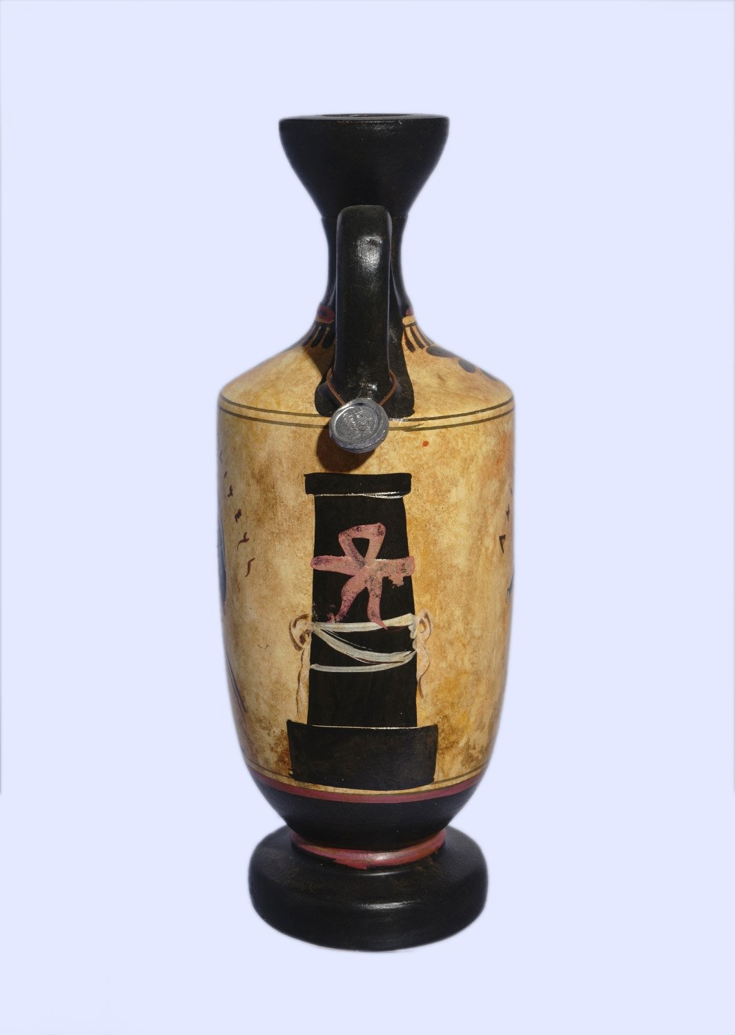 Archaic black-figure lekythos with Achilles and Thetis