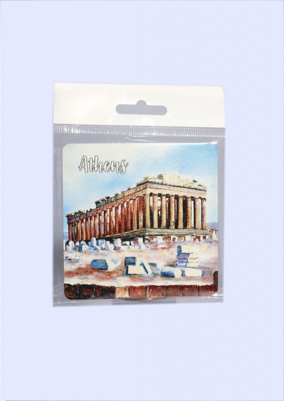 Athens Coaster with Parthenon of Acropolis No.1