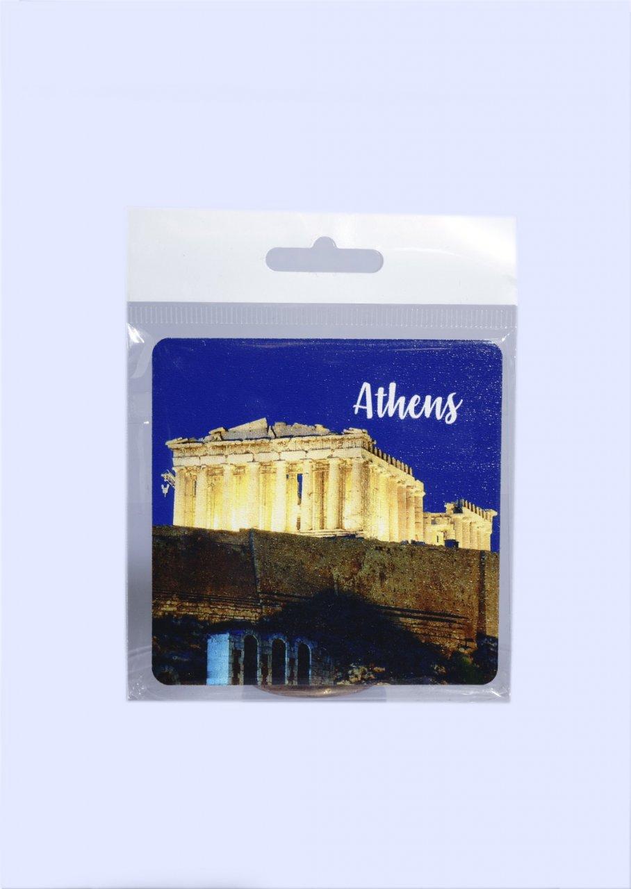 Athens Coaster with Parthenon of Acropolis No.3