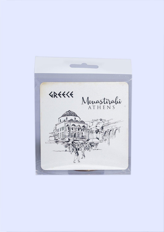 Greece Coaster with Monastiraki