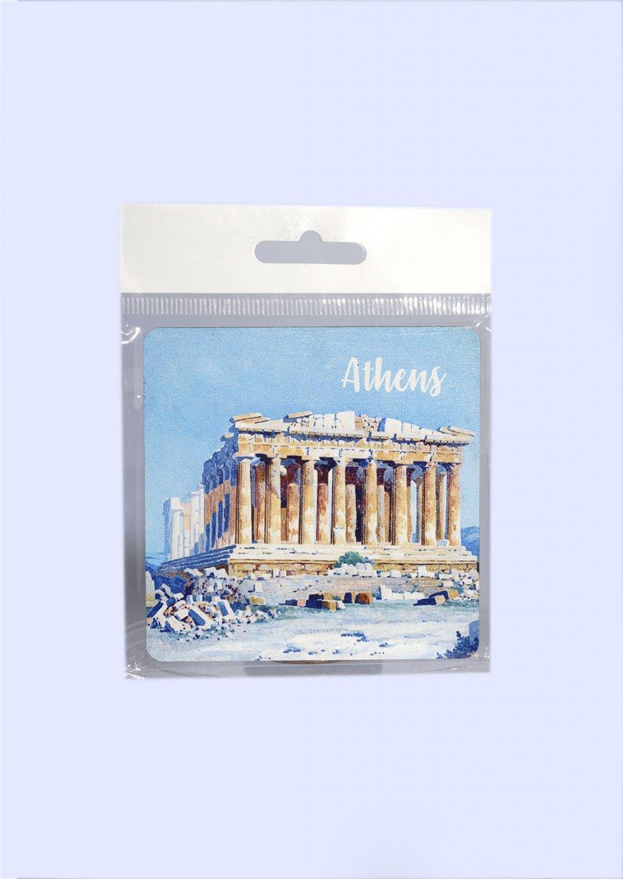 Athens Coaster with Parthenon of Acropolis No.2