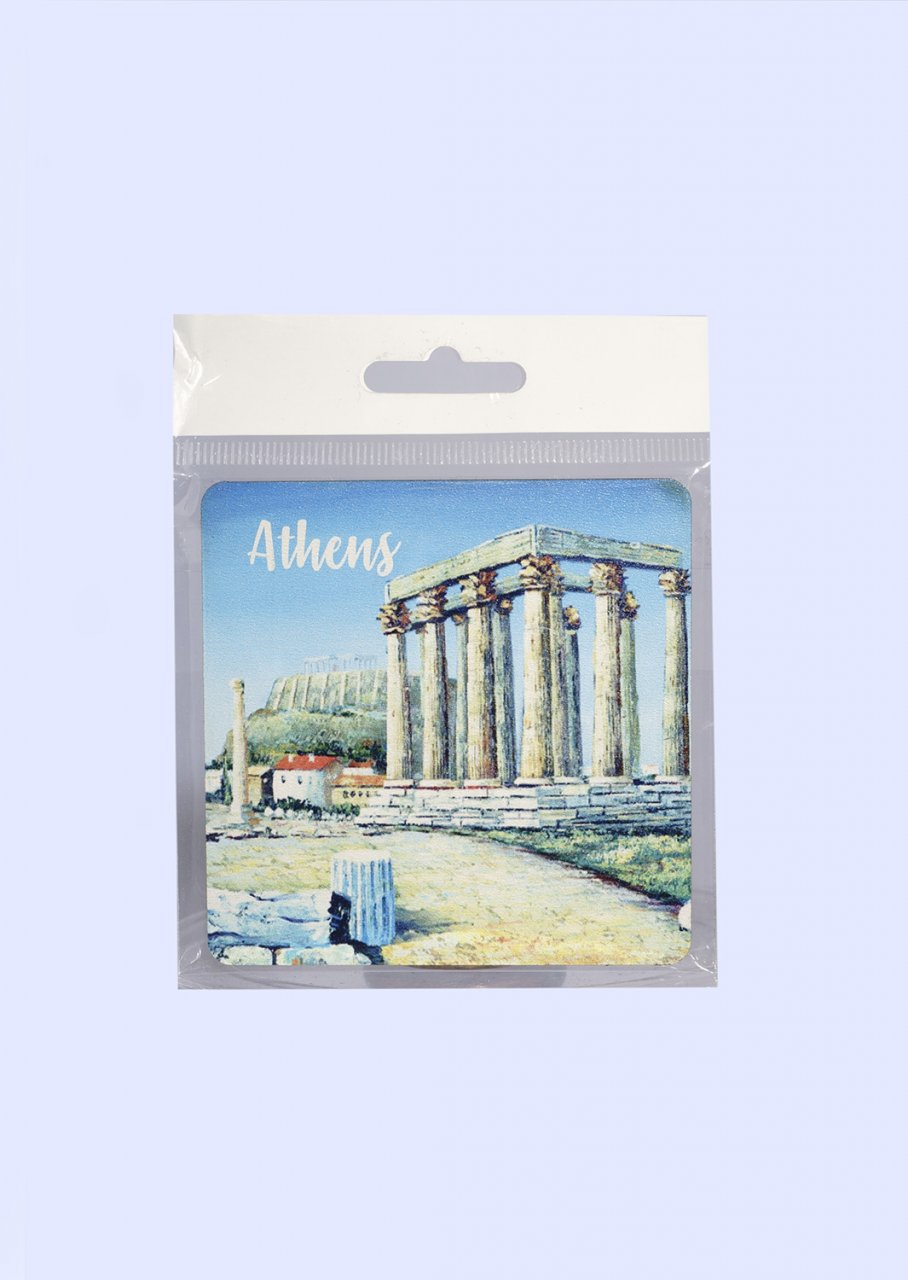 Athens Coaster with The Temple of Olympian Zeus