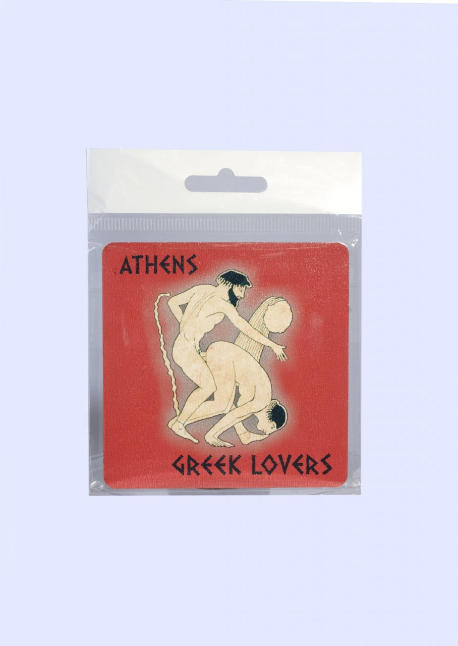 Athens Greece Coaster with Greek Lovers No.4