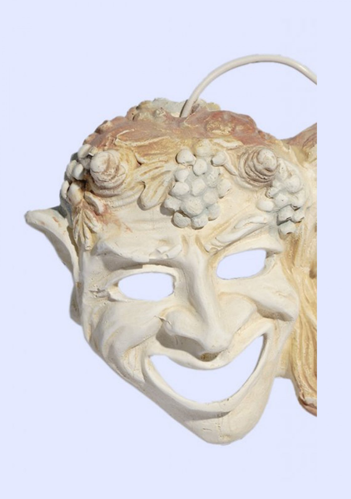 Comedy and drama greek plaster mask statue