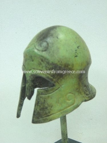 Corinthian helmet small greek bronze statue  Greek statues Bronze statues