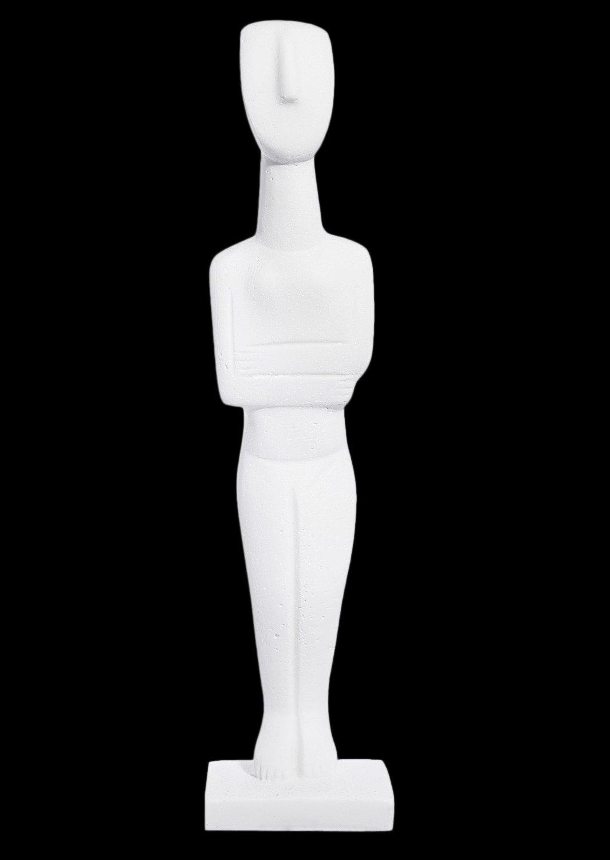 Cycladic female idol, alabaster cycladic statue