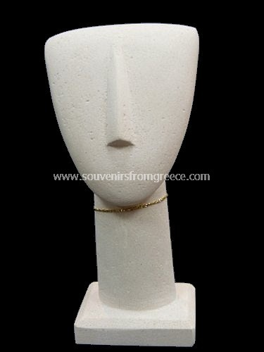 Cycladic art idol head statue Greek statues Cycladic art statues