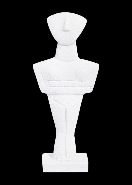 Cycladic male idol, alabaster cycladic statue