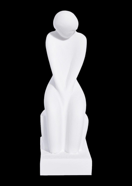 Female greek cycladic art statue