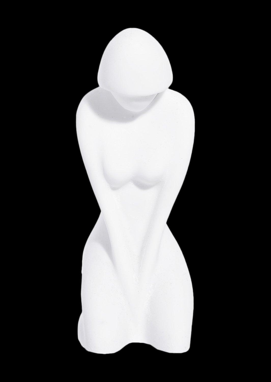 Female greek cycladic art small statue