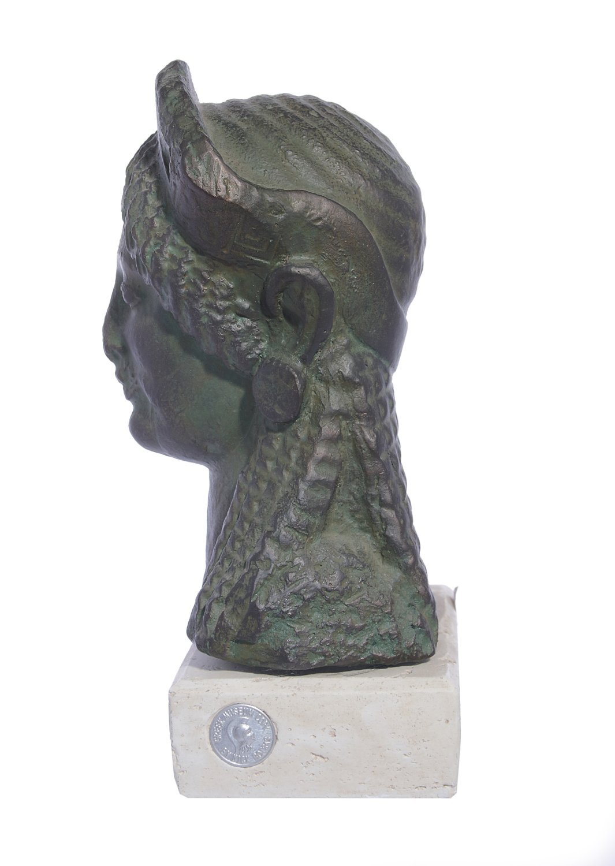 Kore greek plaster bust statue