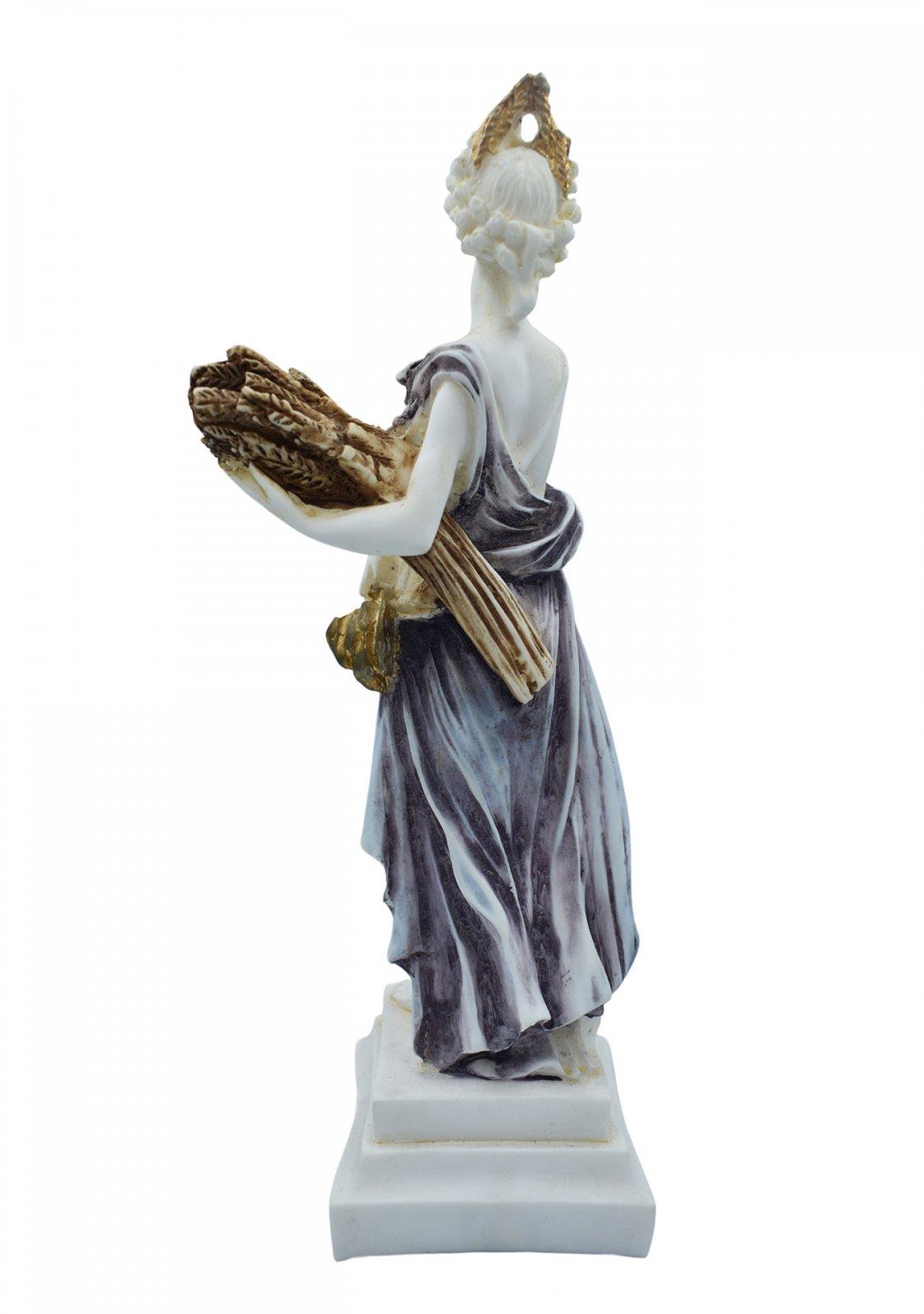 Demeter, Greek goddess of the harvest and agriculture, alabaster statue