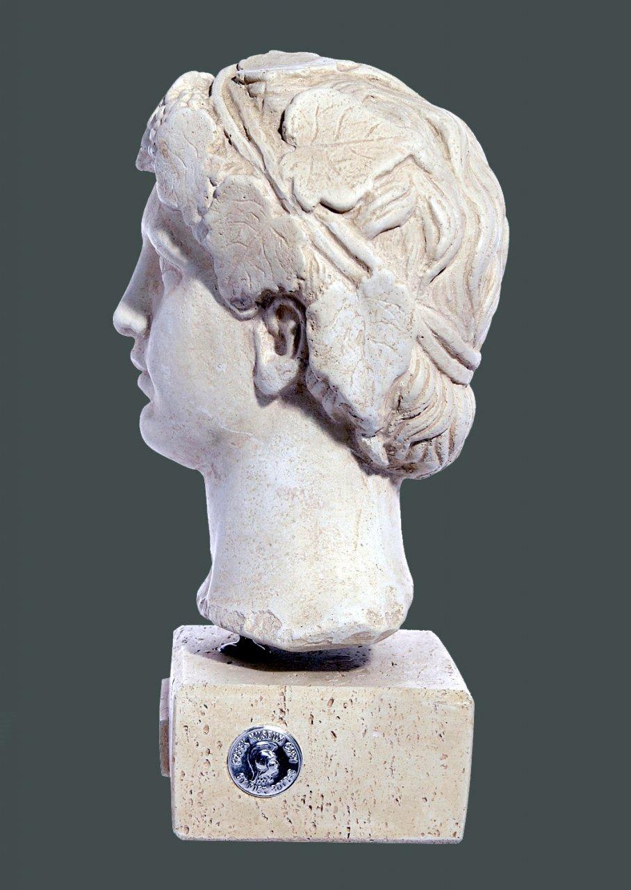 Dionysus greek plaster bust statue