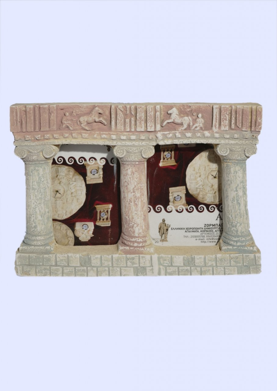 Greek double picture frame with Ionic columns