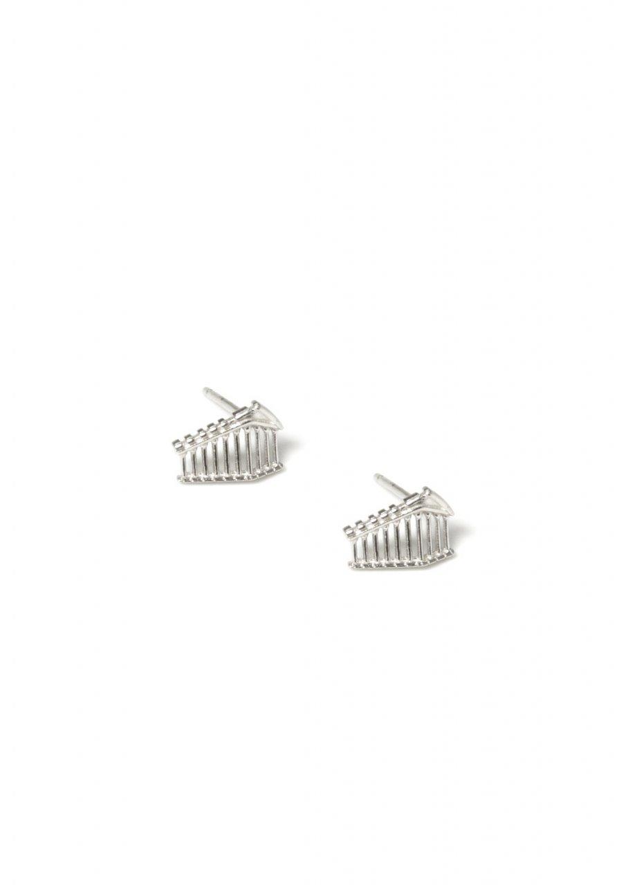 Parthenon of Acropolis greek silver stud earrings